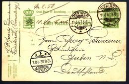 LUXEMBOURG ENTIER POSTAL - 1907 - DIEKIRCH POUR GUBEN - GANZSACHE - Enteros Postales