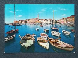 ROVINJ - CROATIA, Fishing Boats, Fischerboote, Postcard 1970`s  (aukR207) - Croatia