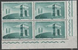 ITALIA - REPUBBLICA ITALIANA - 1958 - 175 Amicizia Italo-brasiliana - Quartina In Bordo Di Foglio - Nuovo - MNH - 1946-60: Ungebraucht