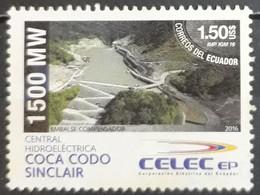 ECUADOR 2016 Central Hidroeléctrica. USADO - USED. - Ecuador