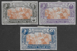 Italia Italy 1923 Regno Propaganda Fide 3val Sa N.131,133-134 Nuovi MH * - Ongebruikt