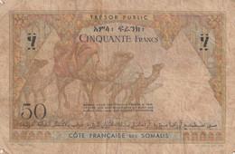 Somalie  Cote  Francaise  Des  Somalie Cinquante Francs  Dans L'etat Petit Prix Dans L'etat - Somalia