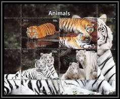 2048/ Bloc Tigre Blanc White Tiger Neuf ** MNH Tirage Privé Vignette - Big Cats (cats Of Prey)