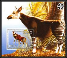 2100 Bloc Neuf ** MNH Tirage Privé Vignette Okapi Scout (scouting - Jamboree) - Benin - Dahomey (1960-...)