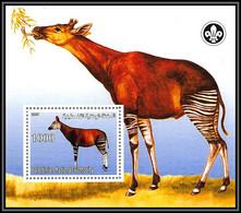 2101/ Okapi Bloc Neuf ** MNH Tirage Privé Vignette Scouts (scouting - Jamboree) - Other
