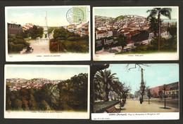 Conjunto 4 Postais Antigos De LISBOA. Ediçao F.A.M. Set Of 4 Old Postcards PORTUGAL 1900s - Lisboa