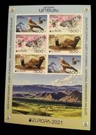 Armenia (Nagorno-Karabakh) 2021 Mih. 231B/33B Europa. Fauna. National Endangered Wildlife (M/S) (imperf) MNH ** - Armenia