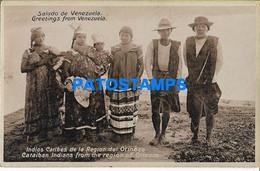 157819 VENEZUELA REGION ORINOCO COSTUMES NATIVE INDIOS CARIBES POSTAL POSTCARD - Venezuela