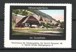 Reklamemarke Serie: Schwarzwald, Partie Im Gutachtale - Cinderellas