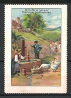 Reklamemarke Serie: Am Brunnen, Bauern Am Thüringer Dorfbrunnen - Cinderellas