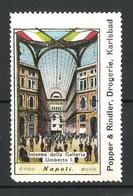 Reklamemarke Napoli, Interno Della Galleria Umberto I. - Cinderellas