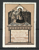 Künstler-Reklamemarke Franz Roth, Herrenwäsche Von L. Rauscher, Reichenbachstr. 39, München, Münchner Kindl - Cinderellas