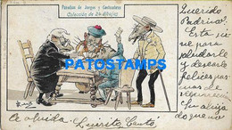 157827 ART ARTE SIGNED RATS PLAYING CARDS PARODIAS DE JUEGOS SPAIN POSTAL POSTCARD - Non Classificati