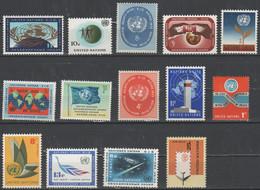 ONU - Nazioni Unite - United Nations -  Nations Unies - Lotto - Accumulo - Vrac - 14 Francobolli - Nuovi - New - Collections, Lots & Series