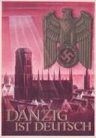 Pologne, Allemagne Dantzig Ist Deutsch, Entier Postal Deutches Reich (112) 10x15 - Vari
