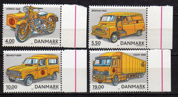 Denmark 2002 Old Post Cars. MNH - Unused Stamps
