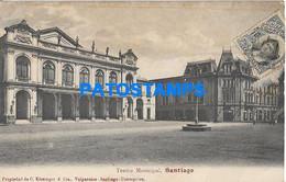 157865 CHILE SANTIAGO TEATRO MUNICIPAL POSTAL POSTCARD - Chile