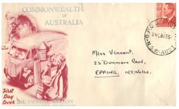 (NN 19) Australia - FDC - Postman With 3d Stamp - Post