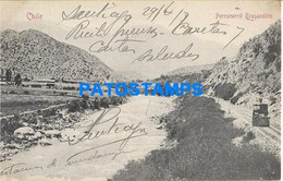 157871 CHILE SANTIAGO FERROCARRIL TRASANDINO CIRCULATED TO ARGENTINA POSTAL POSTCARD - Chile