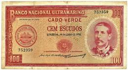 CAPE VERDE - 100 ESCUDOS - 16.06.1958 - Pick 49 - 6 Digits - Serpa Pinto - Cap Verde