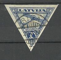 Lettland Latvia 1921 Michel 76 B Air Mail O - Latvia