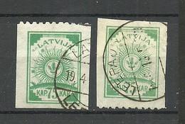 LETTLAND Latvia 1919 Michel 23 Perforated 9 3/4 At Top + Bottom Margin O - Latvia