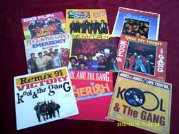 Collection De  9 Vinyles Differents De KOOL  THE GANG - Collezioni
