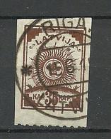 LETTLAND Latvia 1919 Michel 19 Perforated 9 3/4 At Bottom Margin O - Latvia