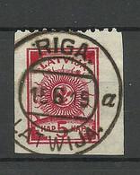 LETTLAND Latvia 1919 Michel 16 Upper Margin Perforated 9 3/4 O - Latvia