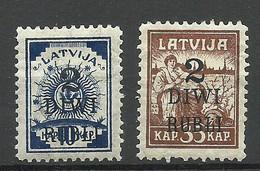 LETTLAND Latvia 1919 Michel 58 - 59 * - Latvia