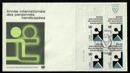 UNITED NATIONS 1981 INTERNATIONAL YEAR OF THE DISABLED - Covers & Documents