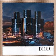 CC Carte Parfumée 'SAUVAGE' #3505 Perfume Card 5x5 - Modern (from 1961)