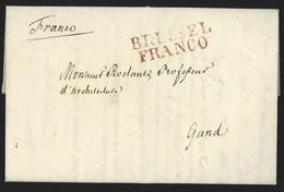 L. En Imprimé 1824 + BRUSSEL/FRANCO Pour Gand - 1815-1830 (Dutch Period)