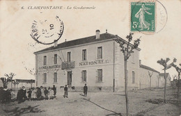 A16- CLAIRFONTAINE (EL AOUINET - ALGERIE) LA GENDARMERIE - (ANIMEE) - Autres Villes
