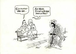 Illustrateur Million C'est Pourtant Vrai Que ..Cesnoirs Ils Ont Le Rythme Dans La Peau ! RV MRAP - Humor