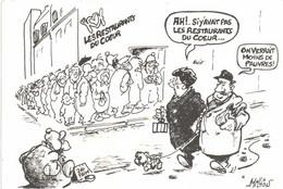 Illustrateur Million AH  !Si Y Avait Pas Les Restaurants Du Coeur ... On Verrait Moins De Pauvres ! RV MRAP - Humor