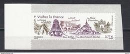 Visitez La France, AUTO ADHESIF N°713 -  2012 Neuf **   Grande Marge - Adhesive Stamps