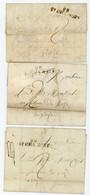 LOIRE 1812 1813 1816 LOT DE 3 LAC 88 / ST CHAMONT CACHET ( ARRIVEE LYON AU VERSO SUR CELLE 1813) SCANS - 1801-1848: Precursors XIX