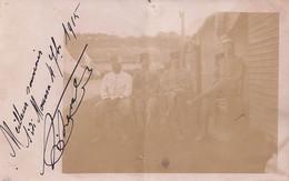 SIDI MOUSSA (ALGERIE) CARTE PHOTO DU 4 OCTOBRE 1915 - UN GROUPE DE MILITAIRES  - (2 SCANS ) - Autres Villes