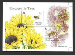 Pitcairn Islands 2008 Flowers & Bees Miniature Sheet Imperforate Printer's Proof - Pitcairn Islands