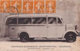 V32-47) MARMANDE - TRANSPORTS ECONOMIQUES DEPARTEMENTAUX - EXCURSIONS  - AUTOBUS - CAR - Marmande