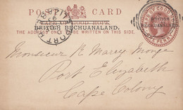Cape Of Good Hope: 1895: Post Card British Bechuanaland To Port Elizabeth - Unclassified