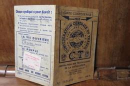 Carte Confédérale C.G.T 1965 SYNDICAT DES METAUX GUILLOTINEUR SAINT AUBIN LES ELBEUF ST PIERRE LES ELBEUF - Organizaciones