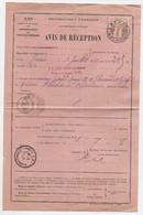 TUNISIE 10C COIN ARRONDI SEUL AVIS DE RECEPTION N°514 TUNIS RP 3.VI.1914 CHARGEMENTS II - Covers & Documents