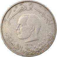 Monnaie, Tunisie, Dinar, 1976, TB, Copper-nickel, KM:304 - Tunisia