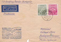 Enveloppe Mit Luftpost Par Avion Berlin Budapest - Covers & Documents