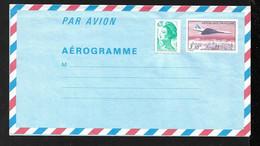 France Aérogramme 1009-AER Avion Concorde Survolant Paris  3,10 F Et 2181 Neuf  B/ TB Soldé Le Moins Cher Du Site  ! ! ! - Concorde
