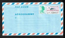 France Aérogramme 1014-AER Avion Concorde Survolant Paris 3,70 F Et 2181  Neuf  B/ TB  Soldé Le Moins Cher Du Site ! ! ! - Concorde