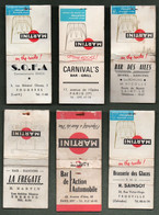 6 Pochettes D'Allumettes MARTINI - Cafés Restaurants - Matchboxes