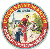 ETIQU. CAMEMB. BRUX LE BON St MARTIN Vienne - Cheese